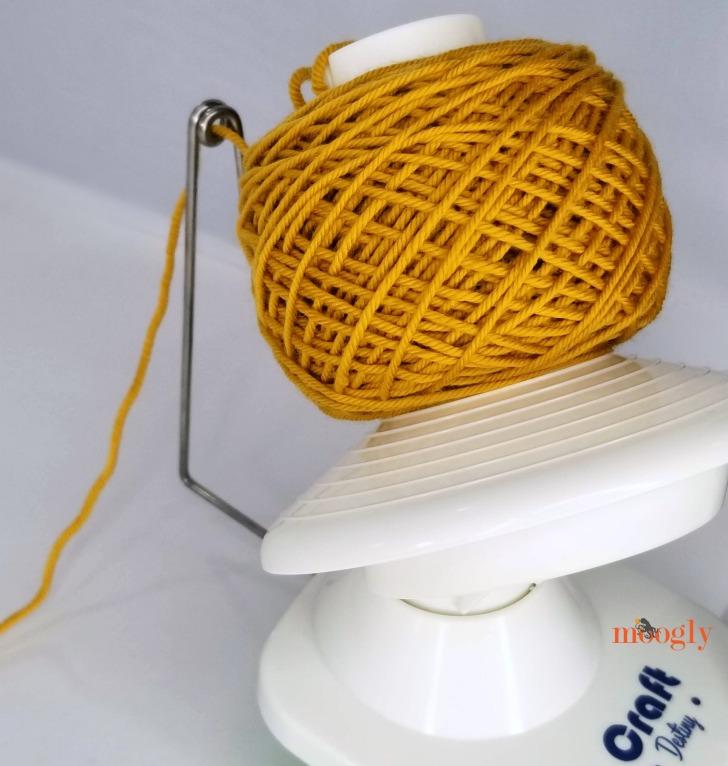 Craft Destiny Yarn Winder - cake freshly wound