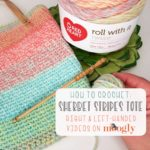Sherbet Stripes Tote Tutorial on Moogly