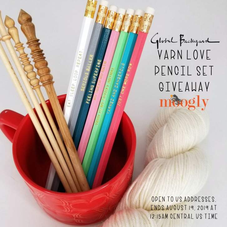 Yarn Love Pencil Set Giveaway on Moogly - open to US addresses only, ends August 19, 2019 at 1215am Central - THREE WINNERS!