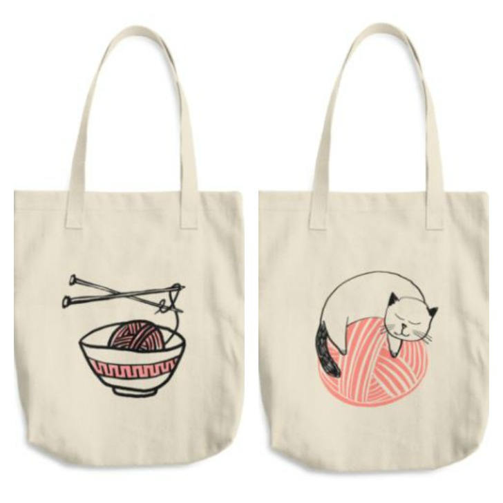Yarn Noodles and Yarn Cat Totes from Global Backyard Industries
