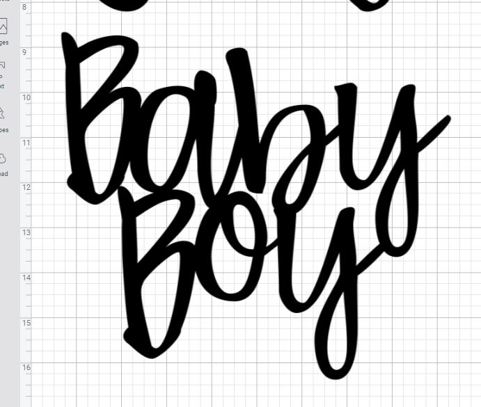 Baby Boy - DIY Baby Shower Cake Topper on Mooglyblog.com