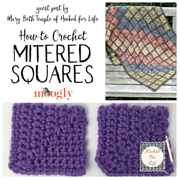 How to Crochet Mitered Squares by Mary Beth Temple, on Moogly