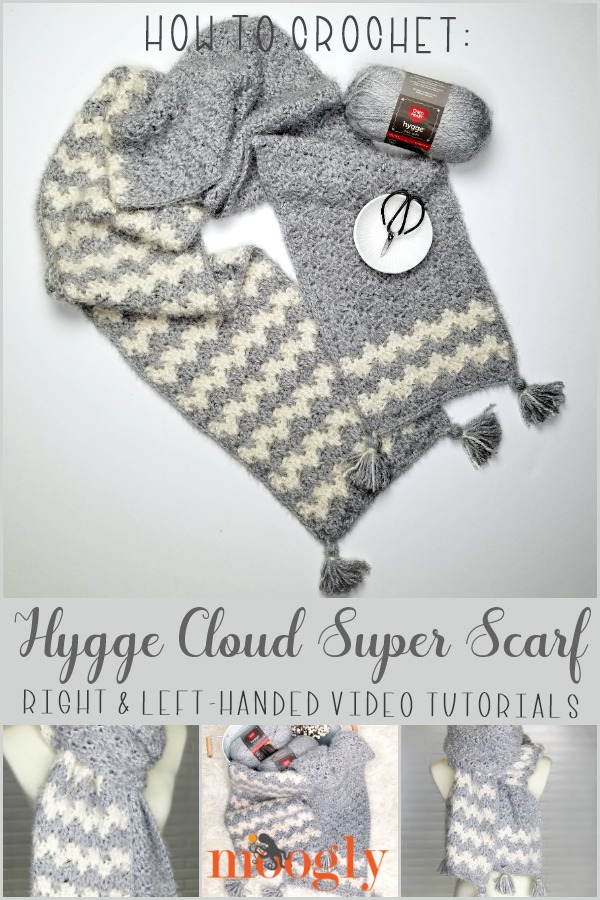 Hygge Cloud Super Scarf - free crochet pattern on Moogly