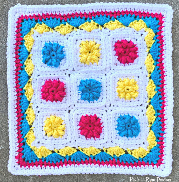 Summer Circus Square- Free Crochet Pattern by Beatrice Ryan Designs
