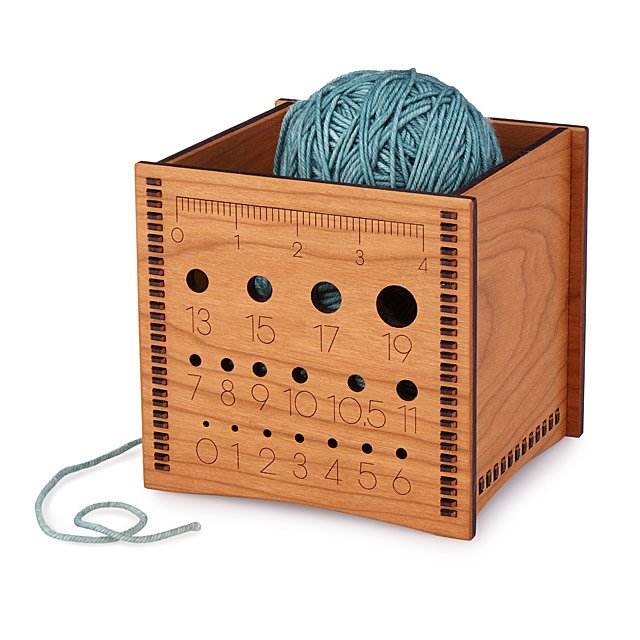 Wooden yarn box on Uncommon Goods