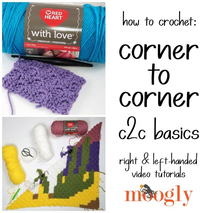 How to Corner to Corner Crochet – C2C
