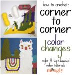 How to Change Colors in Corner to Corner Crochet – C2C