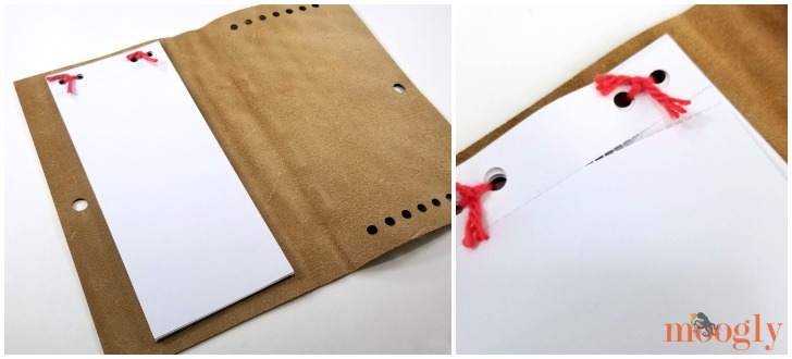 DIY Leather Notepad with Crochet Pouch Quick Cricut Craft on Moogly - Notepad with perforated paper