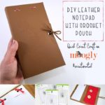 DIY Leather Notepad with Crochet Pouch: Quick Cricut Craft