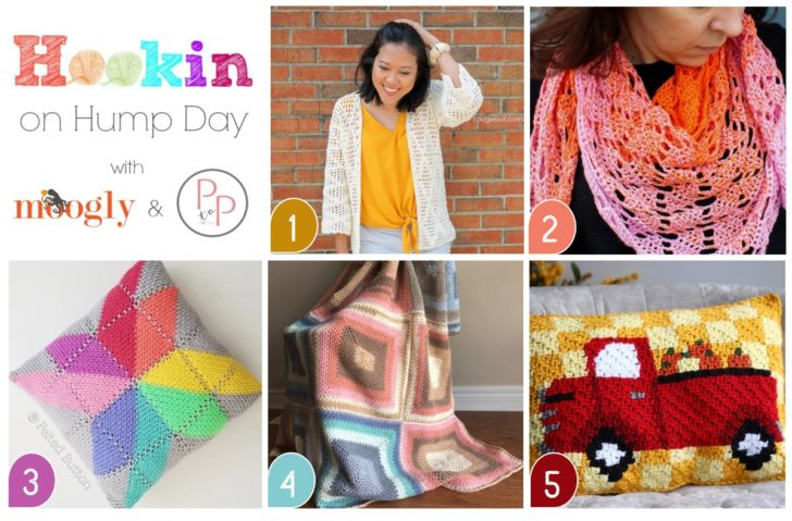 Hookin On Hump Day 200 - Celebrate with 5 fab patterns and 2 amazing giveaways on Moogly and Petals to Picots!