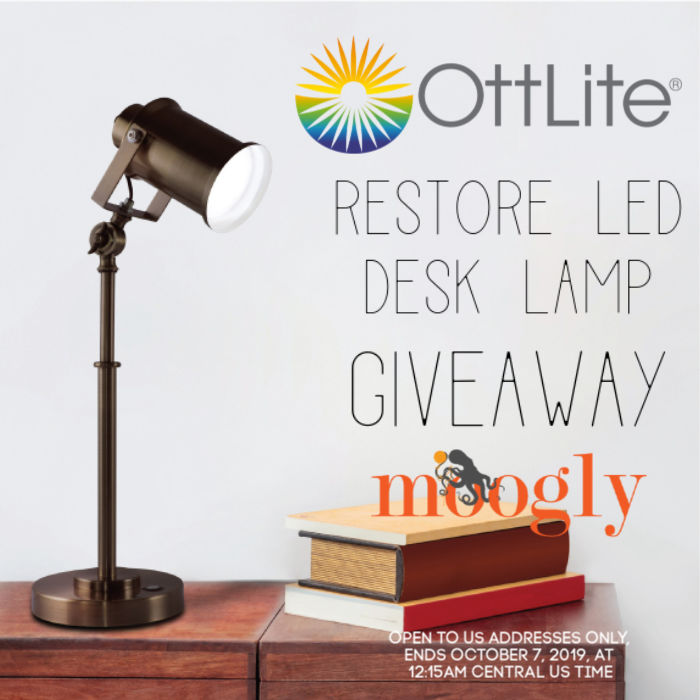 OttLite Restore LED Desk Lamp Giveaway on Moogly