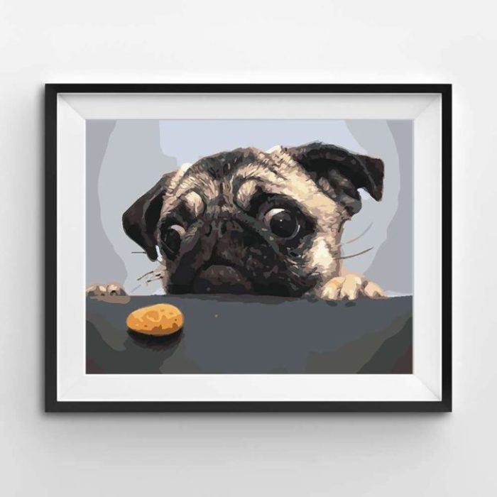 Winnie's Picks Paint By Numbers - The Hungry Pug