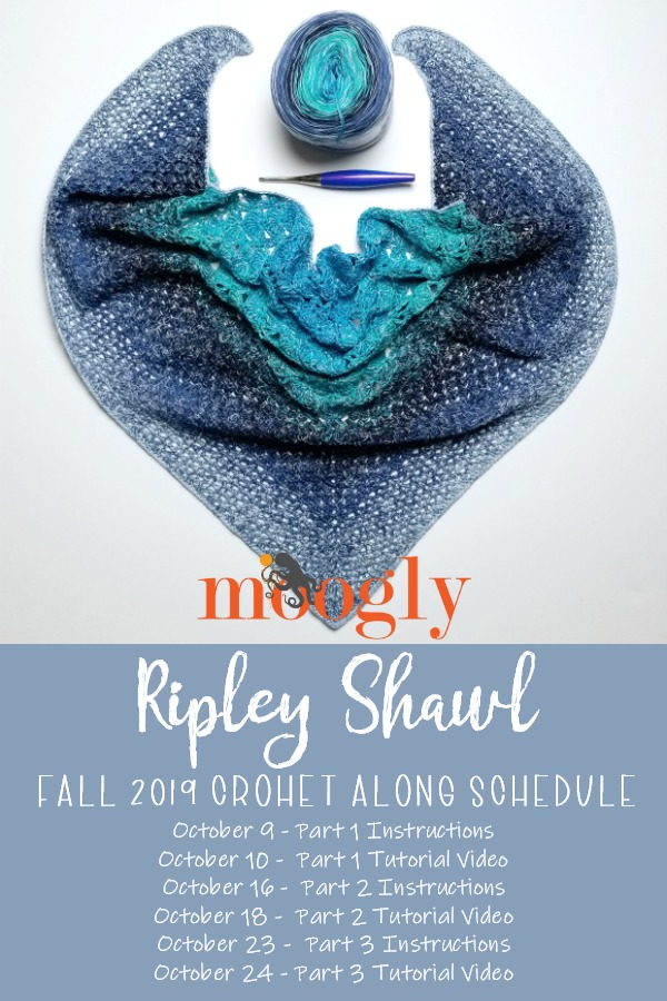 Ripley Shawl Moogly Fall Crochet Along Schedule - October 2019