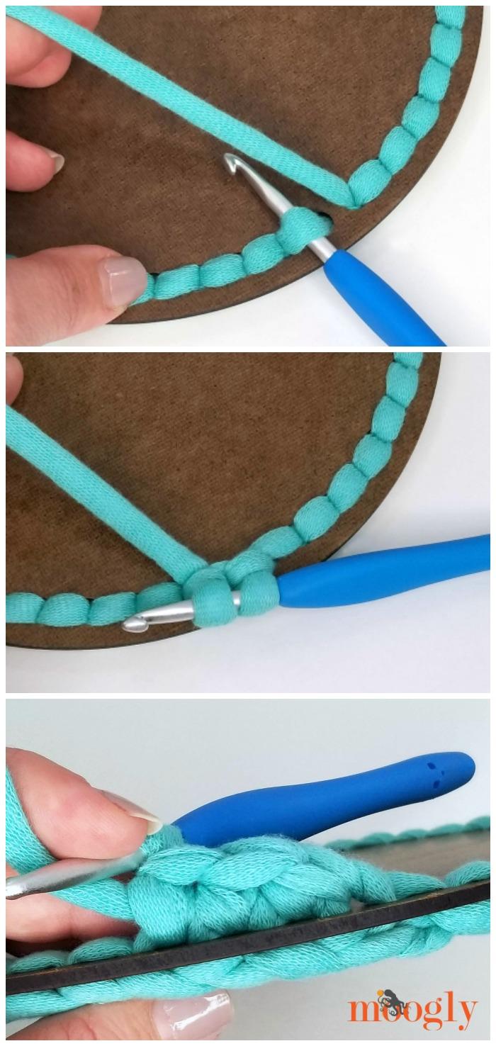 Sturdy Crochet Basket on Moogly - Rnd 2