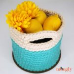 Super Sturdy Crochet Basket with Handles