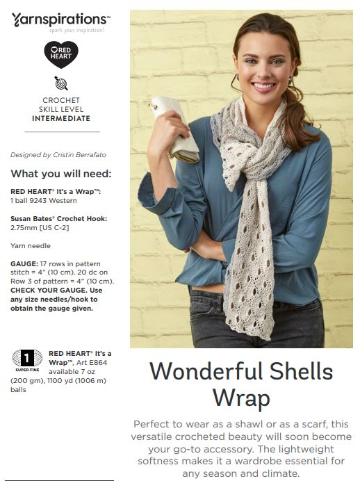 Wonderful Shells Wrap on Yarnspirations