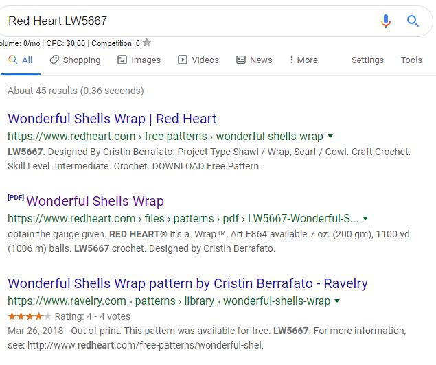 how to find old red heart patterns
