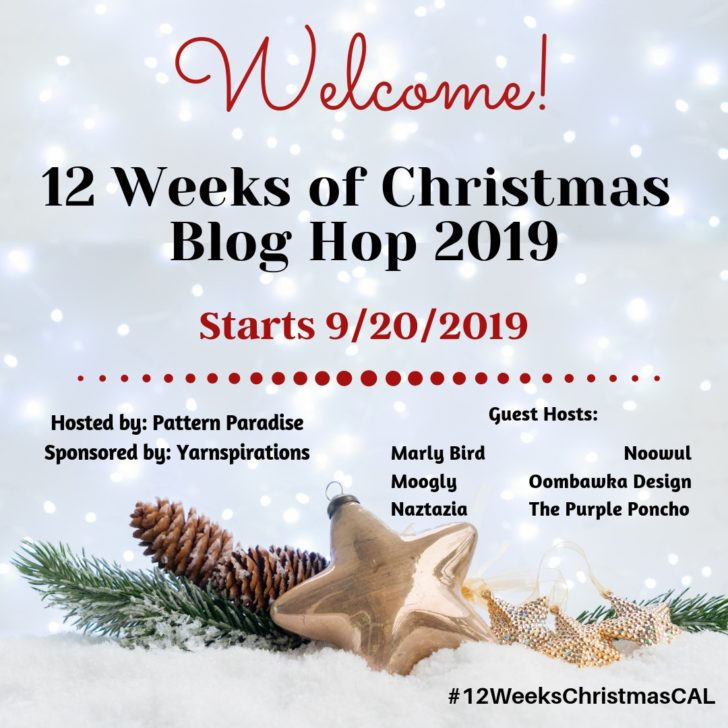 12 Weeks of Christmas Blog Hop 2019 on Pattern Paradise!