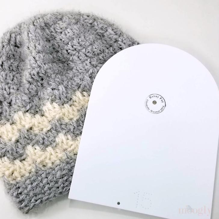 Babé Crochet Hat Giveaway - sneak peek of Hygge Cloud Hat on Moogly