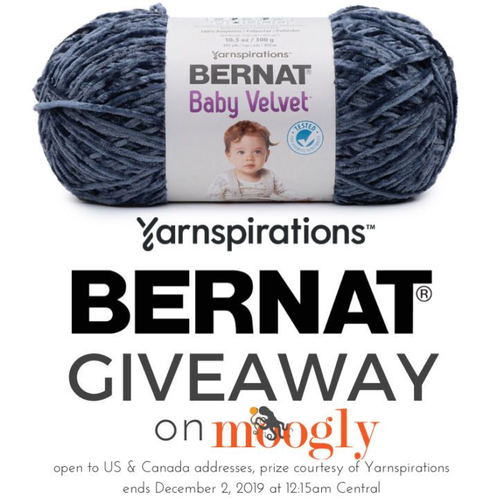Bernat Baby Velvet Giveaway on Moogly - ends 12/2/19