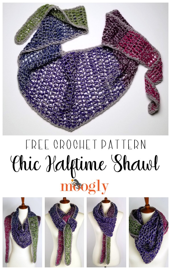 Chic Halftime Shawl - free pattern on Moogly