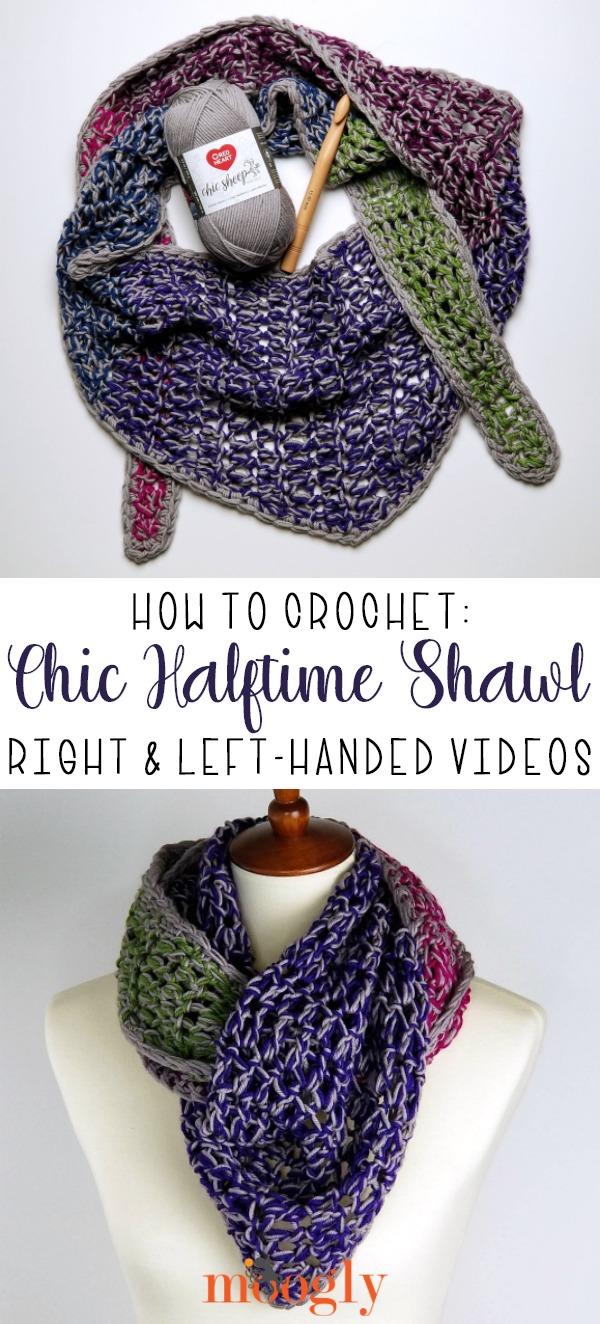 Chic Halftime Shawl Tutorial and Free Crochet Pattern on Moogly!