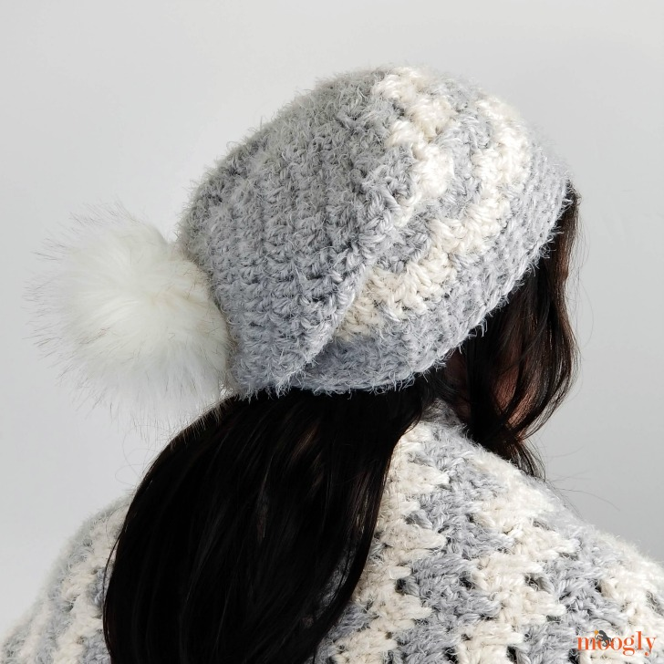 Hygge Cloud Hat - modeled with scarf