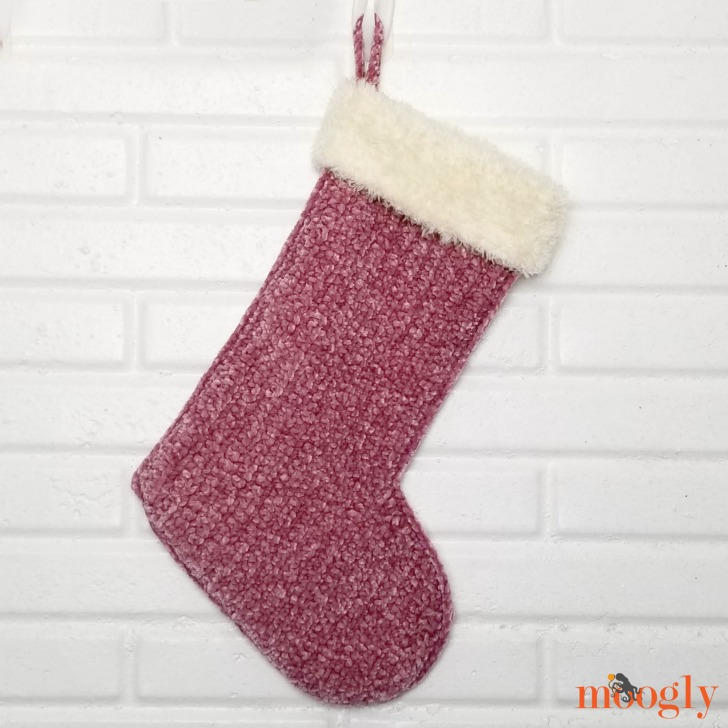 Velvet and Fur Christmas Stocking - free crochet pattern on Moogly!