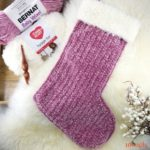 Velvet and Fur Christmas Stocking