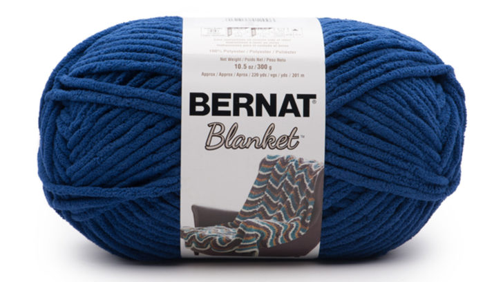 Bernat Blanket Coastal Collection Lapis - a great match to the Pantone Color of the Year 2020!