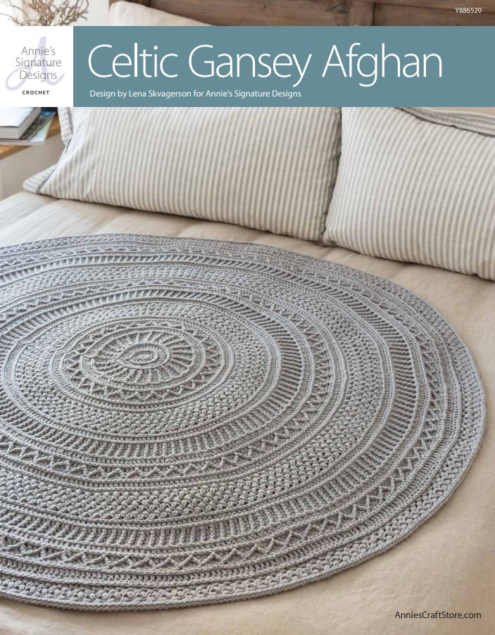 Celtic Gansey Afgahn PDF Cover - win this pattern plus the yarn to make it on Moogly!