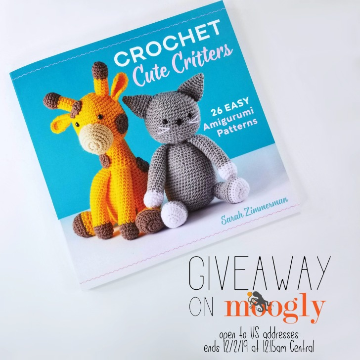 Cute Crochet Critters Giveaway on Moogly - open to US addresses, ends 12-2-19 at 1215am Central