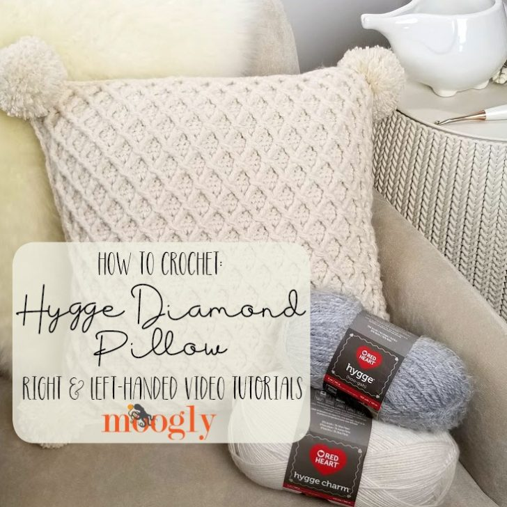 Hygge Diamond Pillow Tutorial on Moogly