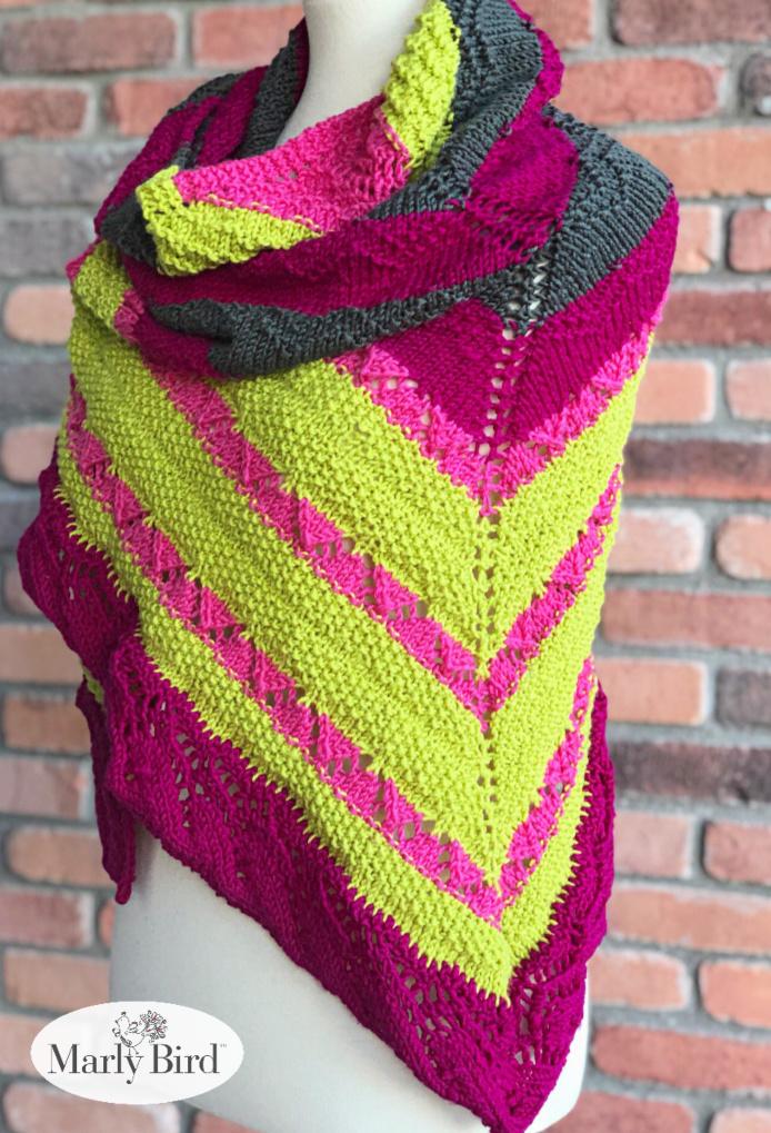 Mariposa Chic Knit Shawl by Marly Bird