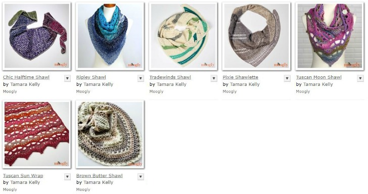 Moogly Shawls with Yarnspirations yarns