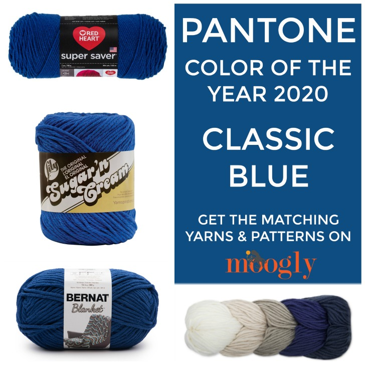 Pantone color of the year 2020 classic blue in yarn moogly - Color of the year 2020 ...