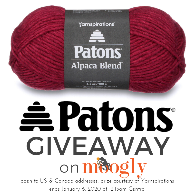 Patons Alpaca Blend Giveaway on Moogly!