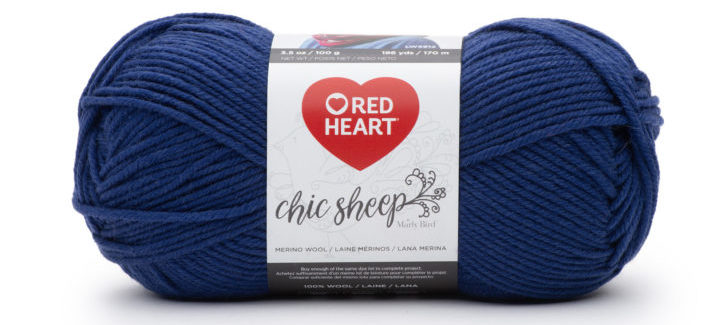 Red Heart Chic Sheep by Marly Bird - VIP - a great match for the Pantone Color of the Year 2020, Classic Blue!