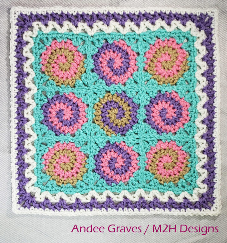 Spirals and Lace Square by Mamas2Hands