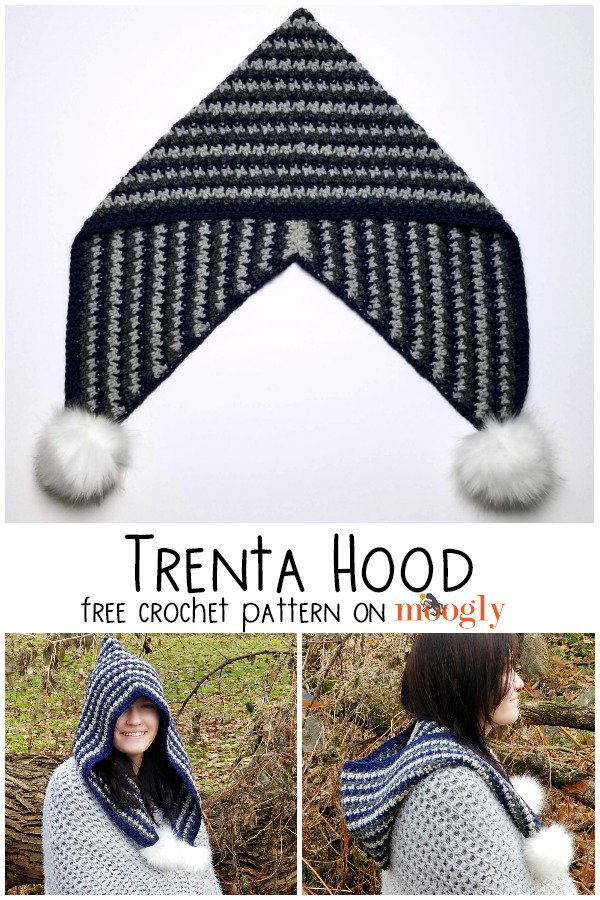 Trenta Hood - free crochet pattern on Moogly!