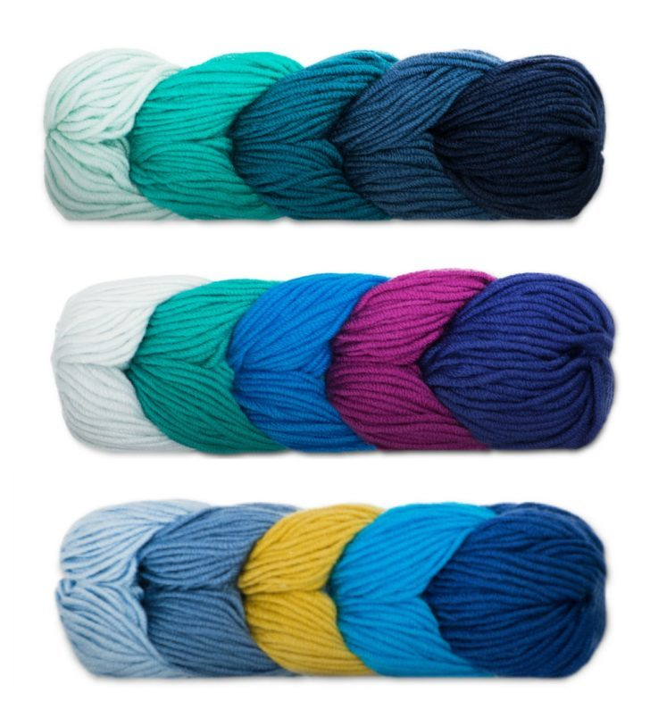 Caron X Pantone colorways featuring the Pantone Color of the Year 2020