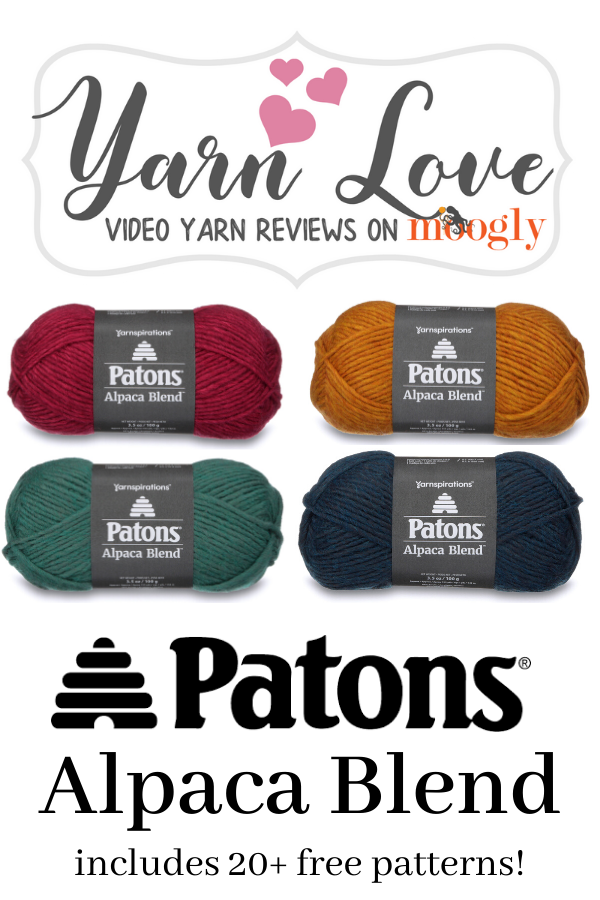 Yarn Love Video Reviews - get a closer look at Patons Alpaca Blend on Moogly!