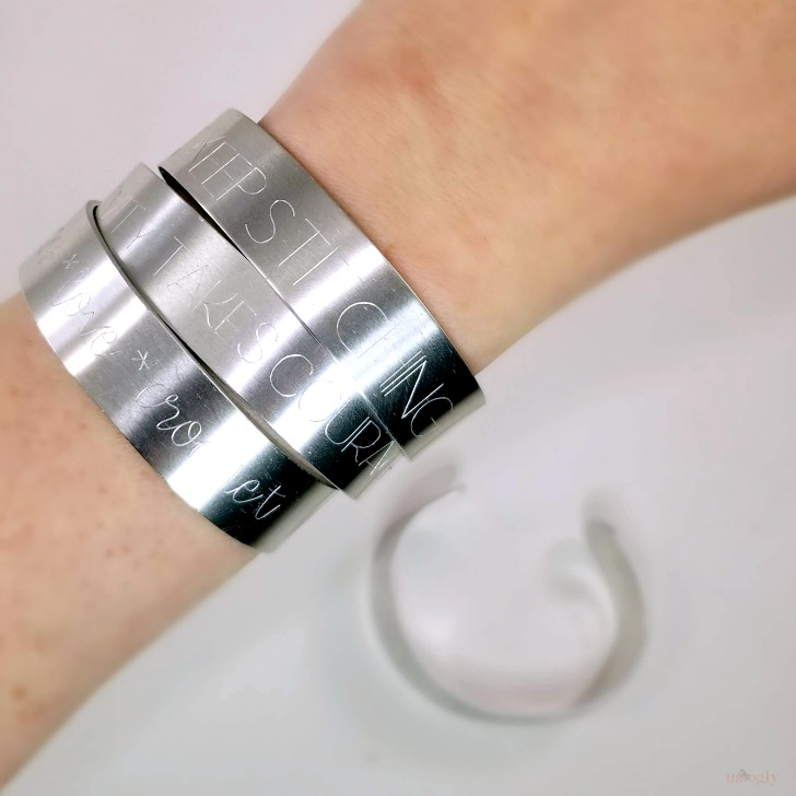 DIY Engraved Bracelets - see just how easy it is on Moogly!