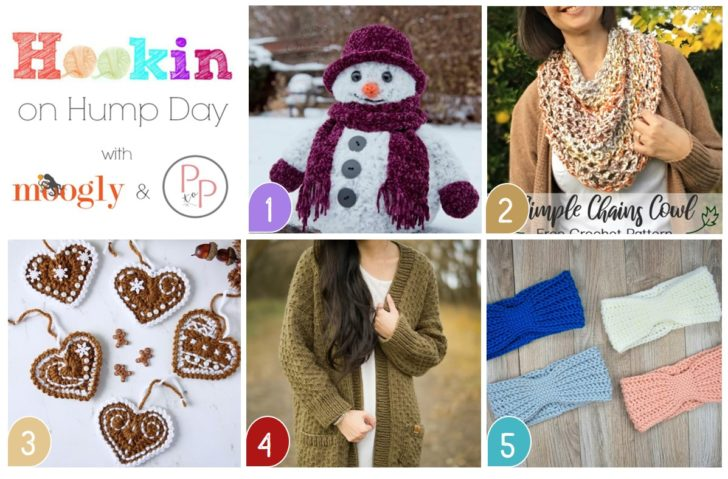Hookin On Hump Day 204 - get all these patterns on Moogly in this fun free link party for knit and crochet!