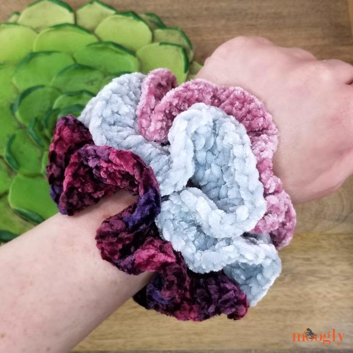 Hyperbolic Velvet Scrunchies