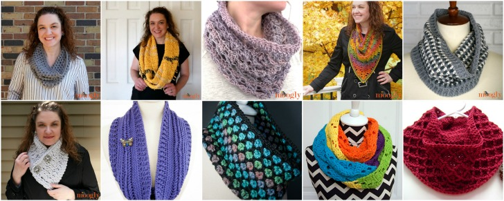 Moogly Free Crochet Cowl Pattern Collection