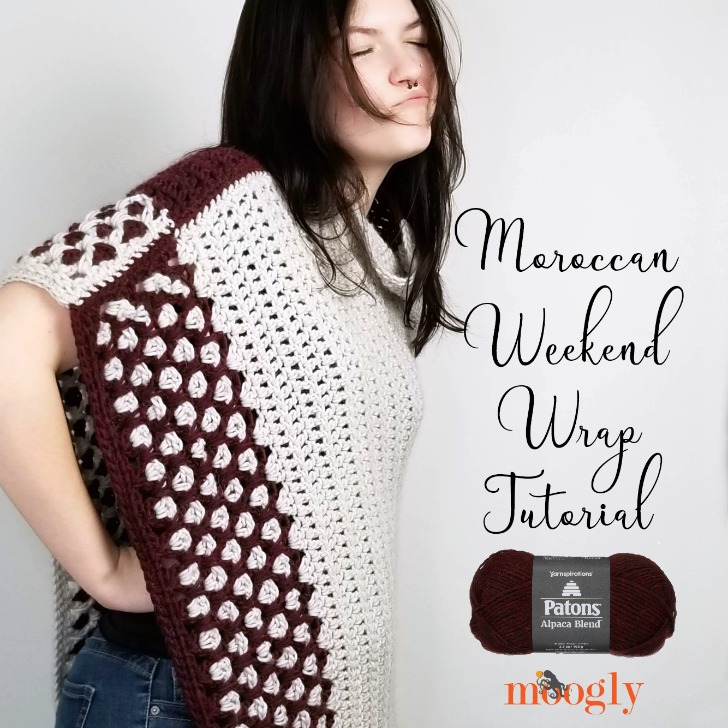 Moroccan Weekend Wrap Tutorial - right and left-handed video tutorials on Moogly!