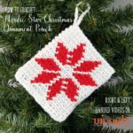 Nordic Star Christmas Ornament Pouch Tutorial