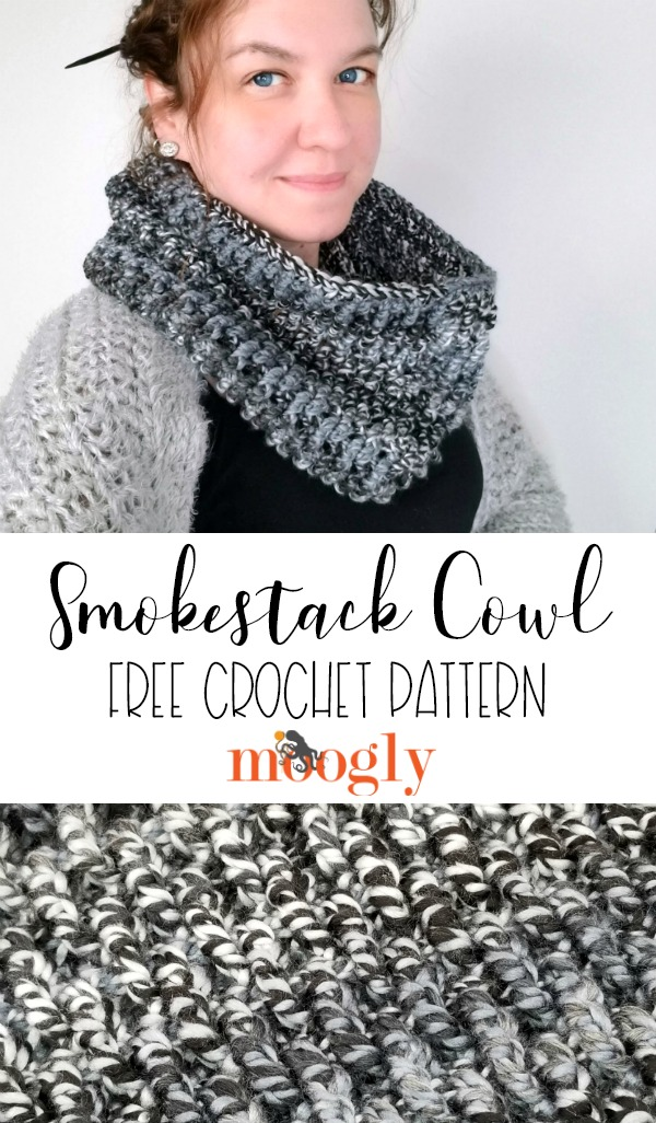 Smokestack Cowl - get this free crochet pattern on Moogly!