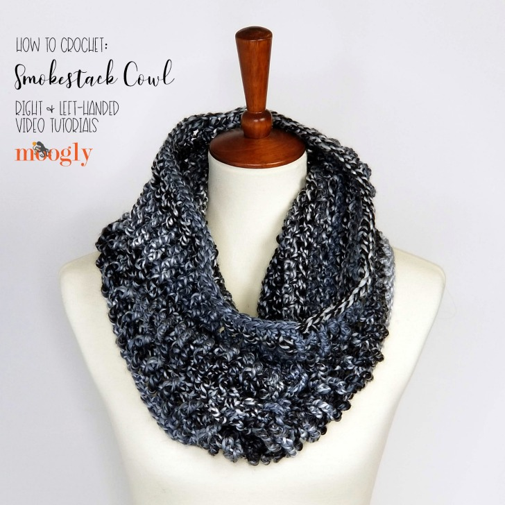 How to crochet the Smokestack Cowl - free pattern and video tutorials on Moogly!